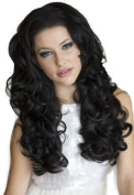 Long, Curly Black, ¾ Or Half Wig Hairpiece Extension