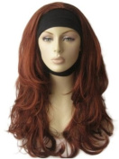 Annabelle's Wigs Copper Red, Curly ¾ Or Half Wig Hairpiece Extension