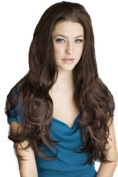 Annabelle'S Wigs Reddish-Brown Wavy 3/4 Or Half Wig Hairpiece Extension