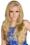 Blonde, Wavy, Half Wig Or ¾ Wig Hairpiece Extension
