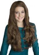 Light Brown, Wavy 3/4 Hairpiece Extension