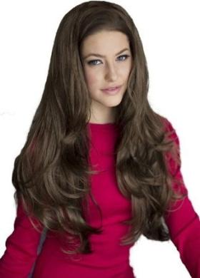 Medium Brown, Wavy 3/4 Or Half Wig Hairpiece Extension: Lexi 250g