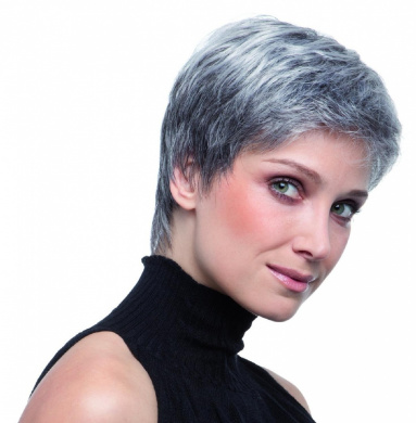 Luxury PAT Design Best Price Wig Is Now Available In A Feminine Salt and Pepper Mix Colour. This Fashionable Elegant Classy Grey Colour Style Is Made Of The Highest Quality Fibre Hair With A Monofilament Top Making It Look So Natural. And ..