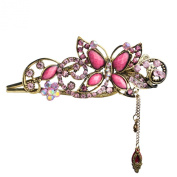 . Lovely Vintage Jewellery Crystal Butterfly Hairpins Hair stick Hair Beauty Tools-Roseo