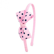Pink Polka Dot Bow Headband, also available in navy and red, perfect for girls and young ladies