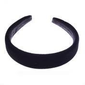 Black Padded Velvet Alice Hair Band Headband 2.5cm