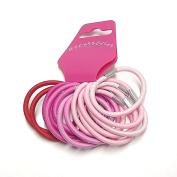 14 Pink & Red Hair Elastics/Bands AJ6065