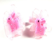 2 Girls Pink Bunny Hair Ponios IN9577