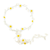 Children's Daisy Flower Crown Headband, perfect for flower girls and summer days. Matching daisy items available at K-Starz.