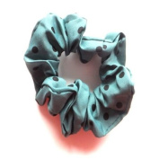 Green & Black Dot Hair Scrunchie IN4163