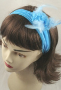 Headband - Large feather flower stretch fabric kylie band head band