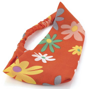 Orange Daisy Head Wrap/Headband AJ25708