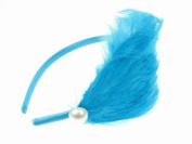 Glitz4Girlz Turquoise Feather Bead Plume Fascinator