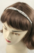 8908 st.2 Rhodium Plate Crystal tiara headband wedding party
