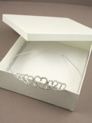 8325 Silver Colour Crystal Graduated Heart Tiara Wedding Bride Bridal Headband
