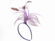 Glitz4Girlz Purple Floral Fascinator