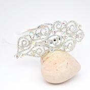 ABS Crystal/ Diamante Floral Design Headband Tiara -