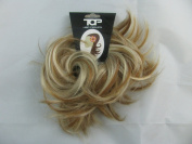 Super Fake Hair Scrunchy On A Ponio Loop. Medium Size - Golden Blonde With Highlights.