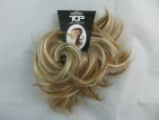 Super Fake Hair Scrunchy On A Ponio Loop. Medium Size - Golden Blonde With Highlights.