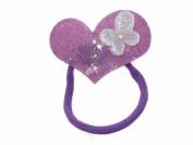 Glitz4Girlz Purple Heart Butterfly Bobble