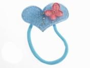 Glitz4Girlz Sky Blue Heart Butterfly Bobble