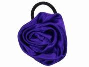 Glitz4Girlz Purple Satin Rosette Ponytailer