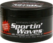 Softsheen.Carson Sportin' Waves Gel Pomade with Wavitrol III (Black Tub) 100ml