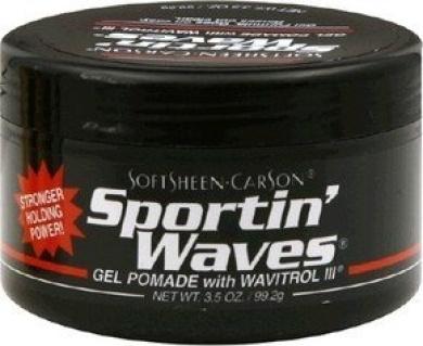 Softsheen.Carson Sportin' Waves Gel Pomade with Wavitrol III (Black Tub) 100ml