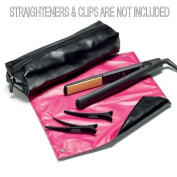 Heat Protection Heat Resistant Travel Pouch and Mat for straighteners and tongs