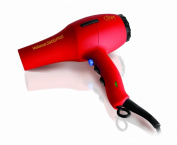 Diva Professional Styling Veloce 3800 Red Rubberised Hairdryer