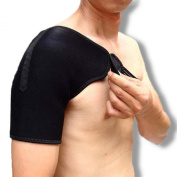 Neoprene Shoulder Support with 6 Magnets, Can be Worn on Left and Right Shoulders by Neo Physio