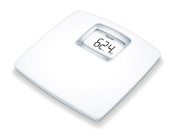 Beurer PS25 Luxury White Acrylic Bathroom Scales with XXL Backlit LCD Display