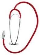 Universal Dual Head Stethoscope, Red