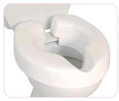 NRS Novelle Portable Clip-On Raised Toilet Seat