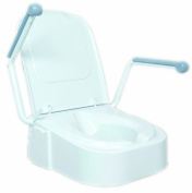 Raised Toilet Seat with Arm Rests