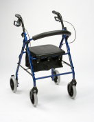 Drive Medical R8RD-23 Lightweight Aluminium Padded Seat Rollator Red