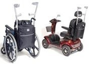 Simplantex Crutch / Walking Stick Bag Medium (600d) For Scooter Or Wheelchair Users