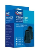 Carex Health Brands Carex Rubber Cane Tips, 2 Cane Tips