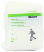 Alvita Incontinence Range Mens Press On Pads - Pack of 10