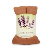 Lavender Body Wrap - Microwavable Wheat Bag - Camel Fleece