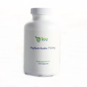 Psyllium Husks 750mg x 120 Capsules - Natural Dietary Fibre for Colon Cleansing & Bowel Health
