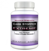 CARB STOPPER EXTREME - Maximum Strength Carbohydrate & Starch Blocker Weight Loss Diet Pills with White Kidney Bean Extract