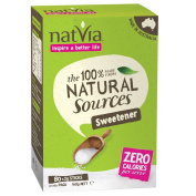 Natvia 100 % Natural Sweetener 80 Sticks