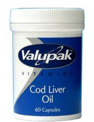 Valupak Vitamins Cod Liver Oil Capsules 400mg 60 Capsules