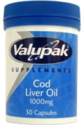 Valupak Cod Liver Oil Capsules High Strength 1000mg 30 Capsules