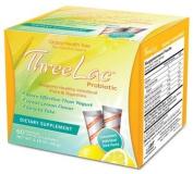 THREELAC Lemon flavour microencapsulated Intestinal pH and Microflora Optimiser. 60 Sachets