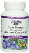 Natural Factors Bluerich Super Strength Blueberry Concentrate, 500 Mg, 90 Softgels