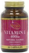 Vega Natural Vitamin E 400iu - Pack of 30 Vegetable Softgel Capsules