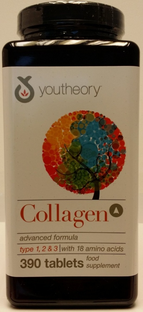 Vitamins & Dietary Supplements Youtheory 100% Natural Collagen 390 Tablets Per Bottle