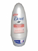 NEW FORMULA Dove 24 Hour Advanced Care Ultimate White Underarm Whitening Deodorant Anti-Perspirant 3 x 40ml Roll On